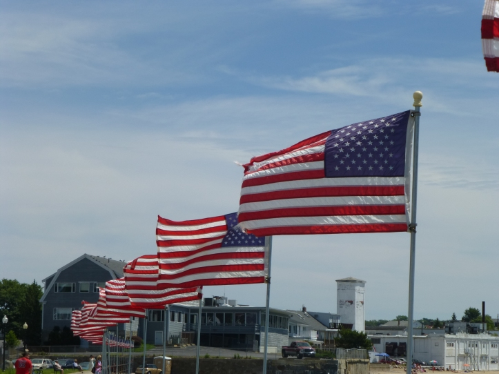 Flags over Gloucester.