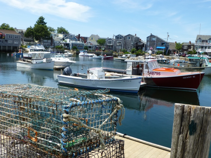 Lobster Boat and lobster Traps.